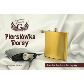 Piersiówka MORAY z grawerem - 180ml