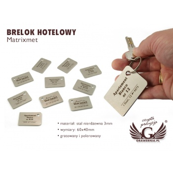 Brelok hotelowy - MATRIXMET 3 REGULAR FAT 60x40mm gr. 3mm