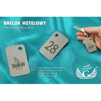 Brelok hotelowy - MATRIXMET MINI SLIM Stal gr. 1mm