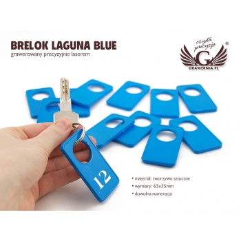Brelok - LAGUNA BLUE - 65x35mm