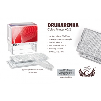 Drukarenka pieczątka Colop Printer 40/2 - wym odbicia: 59x23mm - COL023
