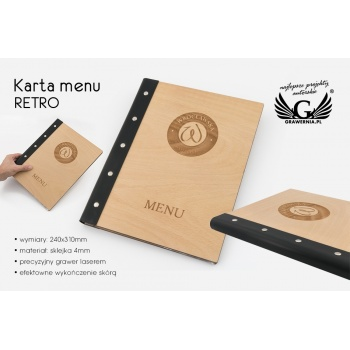 Karta menu RETRO - MEN010