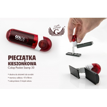 Kieszonkowa pieczątka Colop Pocket Stamp PS30 - wym odbicia: 47x18mm - COL016