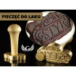 Pieczęć do odbijania w laku - CNC - wymiary: 57x30,57mm