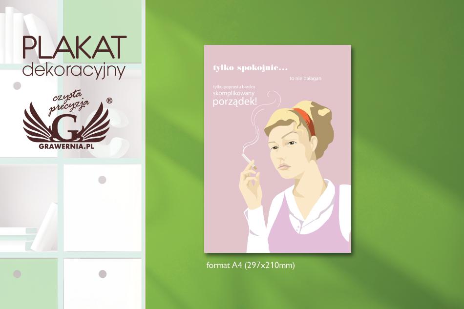 Plakat Dekoracyjny Pani Domu Cyfrowy Druk Uv Nap023