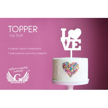 Topper na tort - Love - TOP039