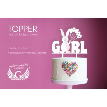 Topper na tort z okazji baby shower - TOP009