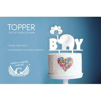 Topper na tort z okazji baby shower - TOP010