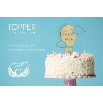 Topper na tort z okazji baby shower - TOP019