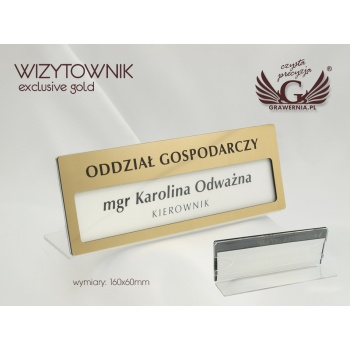 Wizytownik Exclusive Gold - 160x60mm - acryl model PR008