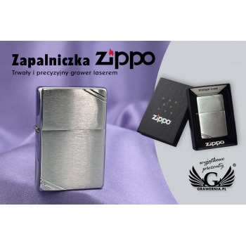 Zapalniczka ZIPPO Vintage Brushed Chrome with Slashes