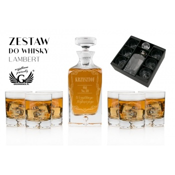 Zestaw do whisky z grawerem - LAMBERT - KAR046