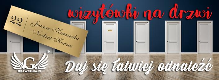 Bardzo dobra Grawerowane wizytówka na drzwi do mieszkania - GRAWERNIA.PL CU85